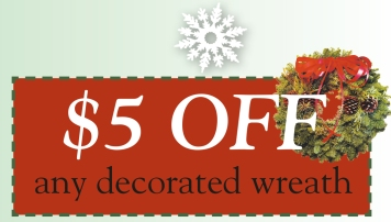 Wreath coupon 2014